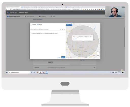 Google Ads tutorial screenshot dashboard