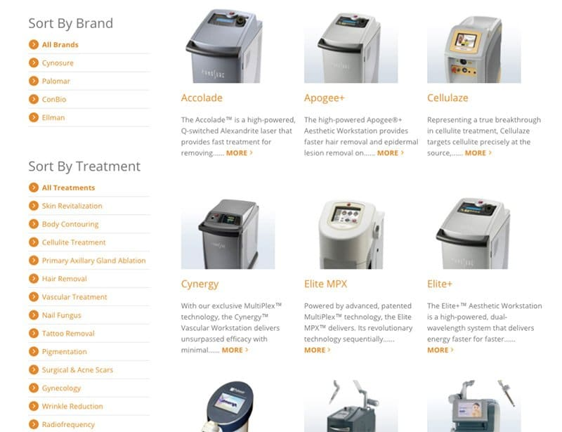 medical device website catalogue
