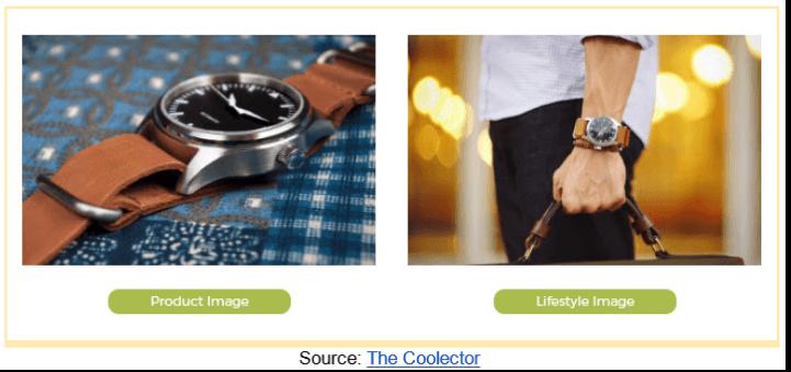 Product Image Vs Lifestyle Image