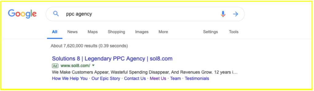 Google Search Ads for PPC Agency
