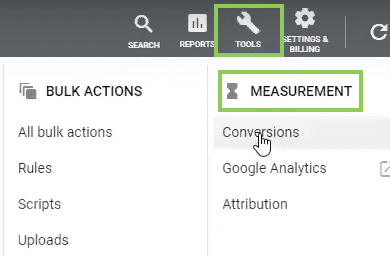 Conversion Tracking Setup in Google ads