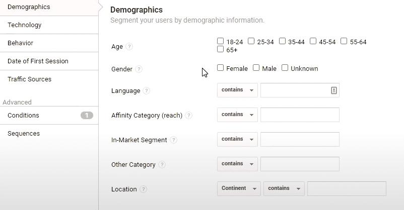 Demographics in Google Analytics
