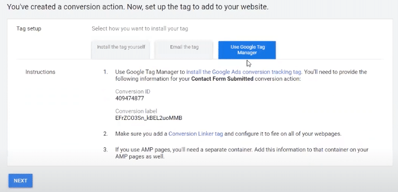 Installing your GTM for conversion tracking