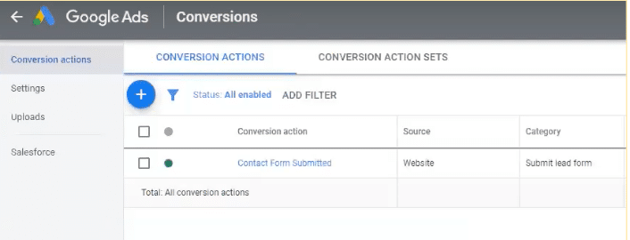 View your conversion actions in your Google Ads dashboard