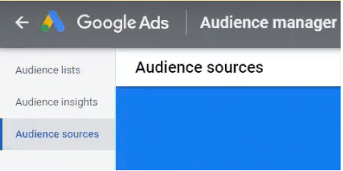 View your audience sources in Google Ads