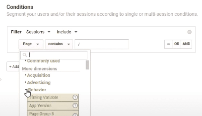 Segmenting your users using Conditions in Google Analytics