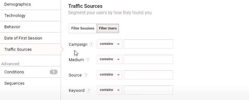 Traffic Sources in Google Analytics